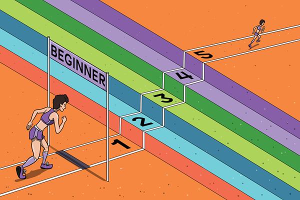 A beginner runner (Christel Saneh)