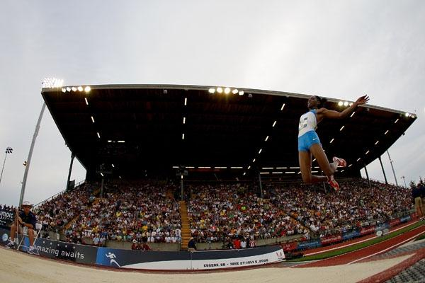 Brittney Reese sails to the U.S. long jump title in Eugene (Getty Images)