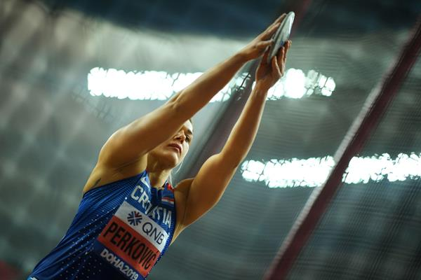 Sandra Perkovic in discus qualifying at the IAAF World Athletics Championships Doha 2019 (Getty Images)