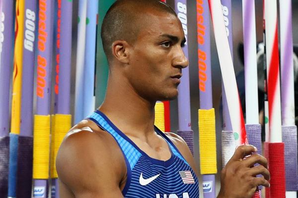 Ashton Eaton in the decathlon javelin at the Rio 2016 Olympic Games (Getty Images)