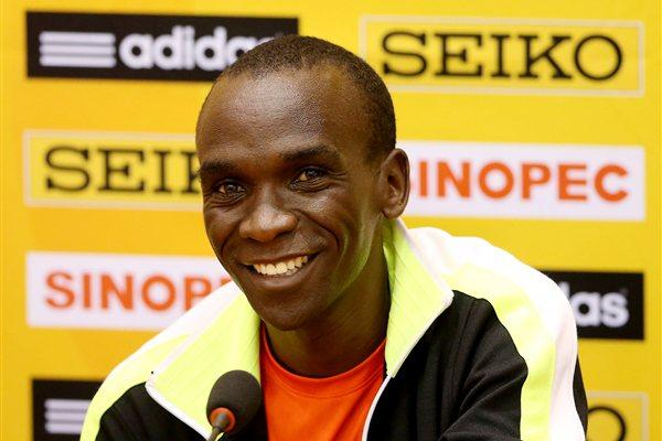 Eliud Kipchoge on the eve of the World Half Marathon Championships in Kavarna (Getty Images)