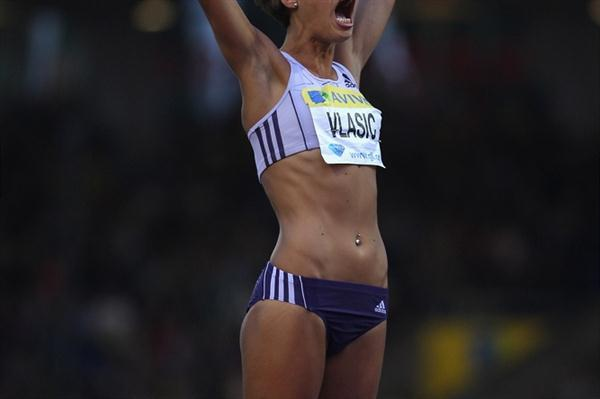 Another Diamond League victory for Blanka Vlasic, this time in London where she won by a massive 10cm (Getty Images)