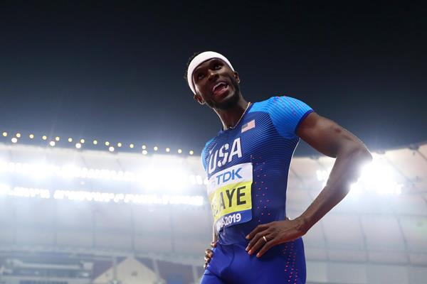 Will Claye in the triple jump at the IAAF World Athletics Championships Doha 2019 (Getty Images)