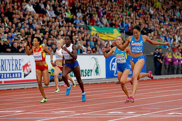 Libanio Grenot takes the European 400m title in Zurich (Getty Images)