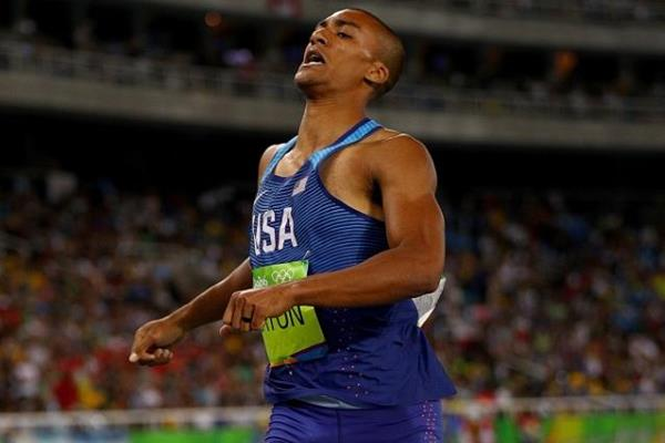 Ashton Eaton in the decathlon 1500m at the Rio 2016 Olympic Games (Getty Images)