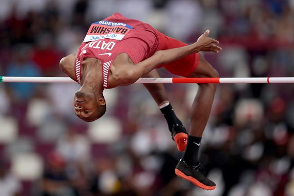 Qatari high jumper Mutaz Barshim in Doha (Getty Images)
