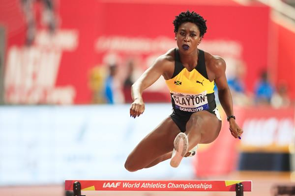 Rushell Clayton at the IAAF World Athletics Championships Doha 2019 (Getty Images)
