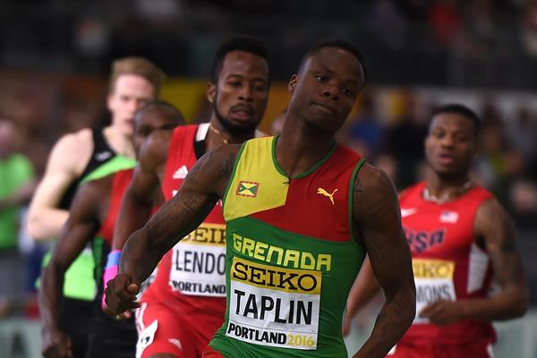 Bralon Taplin in the 400m semifinals at the IAAF World Indoor Championships Portland 2016 (Getty Images / AFP)