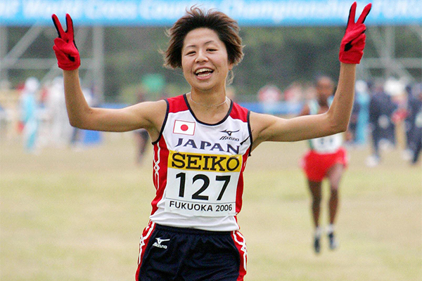 Kayoko Fukushi at the 2006 World Cross Country Championships in Fukuoka (AFP / Getty Images)