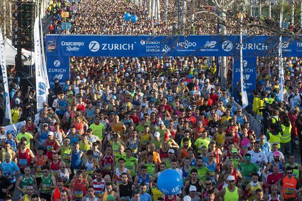Runners in the 2015 Zurich Maraton de Sevilla (Juan Jose Ubeda / Zurich Maraton de Sevilla)