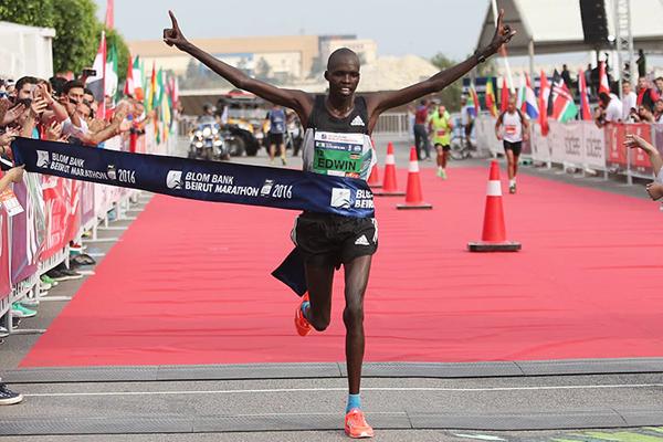 Edwin Kiptoo wins the Beirut Marathon (Organisers)