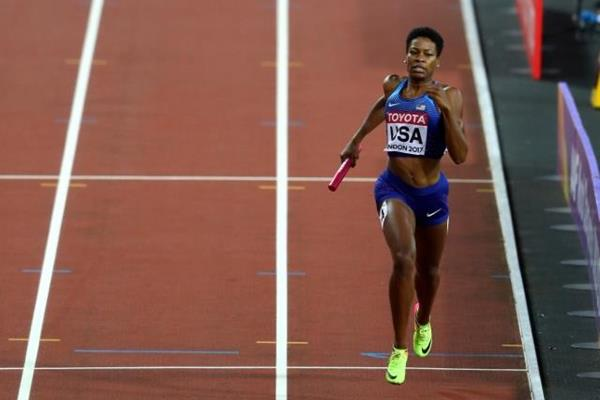 Phyllis Francis anchors USA to gold in the 4x400m at the IAAF World Championships London 2017 (Getty Images)