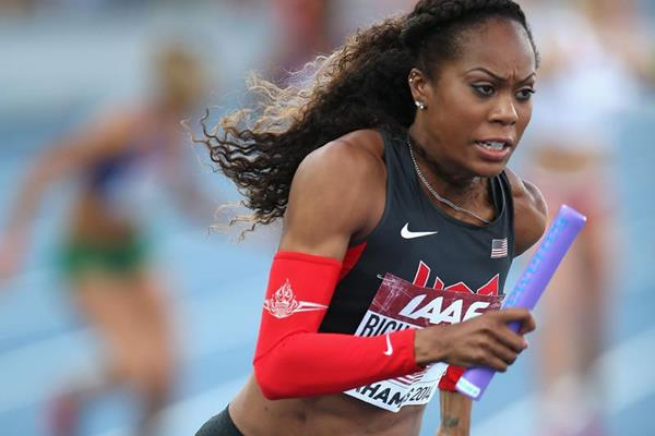 Sanya Richards-Ross in the 4x400m at the IAAF World Relays, Bahamas 2014 (Getty Images)