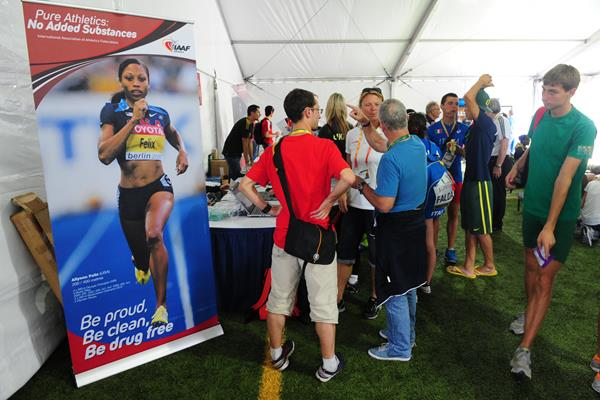 IAAF Anti-Doping eduction in action - Outreach programme in Eugene (Getty Images)
