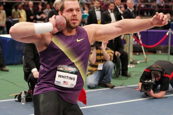Ryan Whiting in the Shot Put at the 104th Millrose (Errol Anderson)