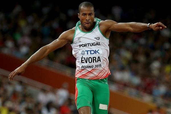 Nelson Evora in the triple jump at the IAAF World Championships, Beijing 2015 (Getty Images)