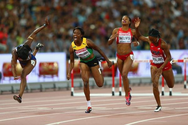 Danielle Williams wins the 100m hurdles at the IAAF World Championships, Beijing 2015 (Getty Images)