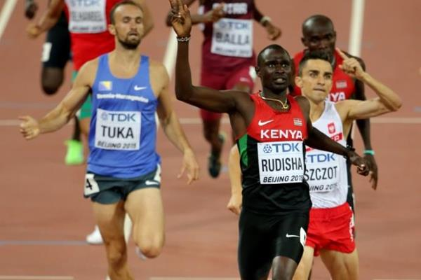 David Rudisha wins the 800m at the IAAF World Championships, Beijing 2015 (Getty Images)