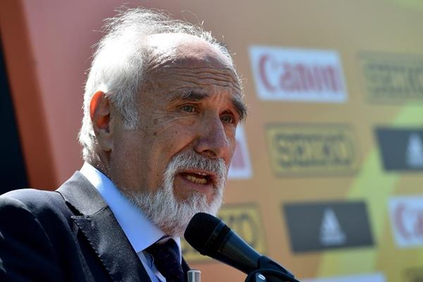 LOC President Alfio Giomi at the press conference for the IAAF World Race Walking Team Championships Rome 2016 (Getty Images)