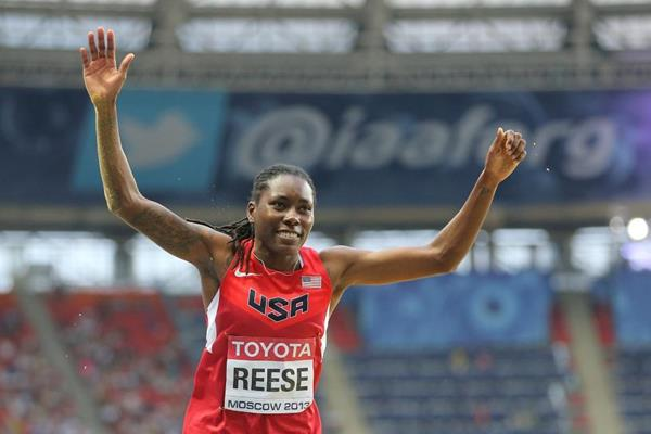 Brittney Reese in the womens Long Jump at the IAAF World Athletics Championships Moscow 2013 (Getty Images)