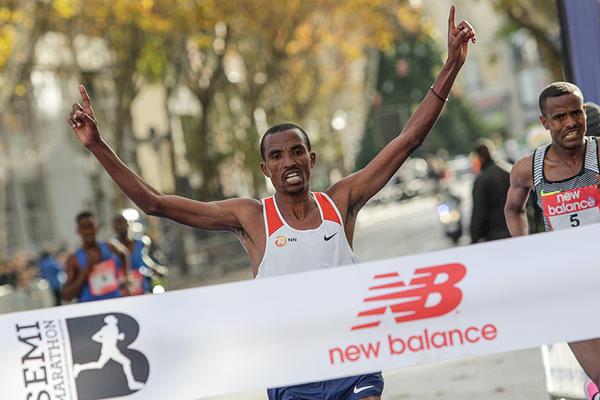 Hiskel Tewelde wins the Boulogne-Billancourt Half Marathon (Organisers)