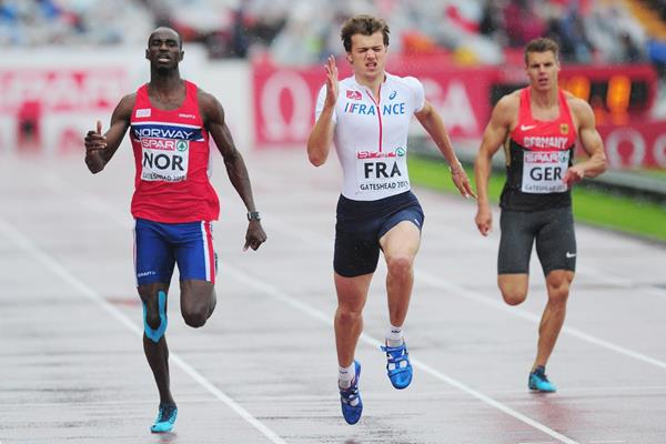 Christophe Lemaitre successfully defends his 200m title at the 2013 European Team Championships (Getty Images)