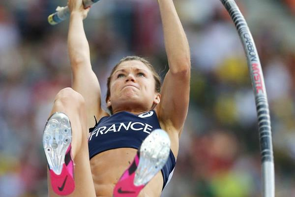 Marion Lotout of France wins the Pole Vault (Getty Images)