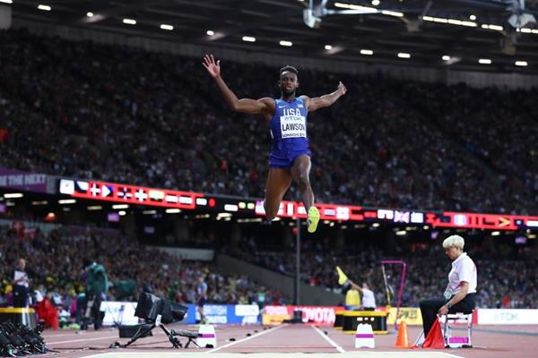 Jarrion Lawson at the IAAF World Championships London 2017 (Getty Images)