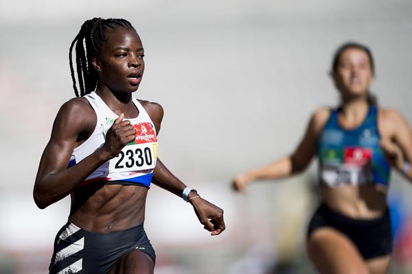 Belgian sprinter Cynthia Bolingo in action (AFP / Getty Images)