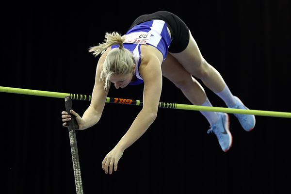 Holly Bradshaw wins the pole vault at the British Indoor Championships (Getty Images)