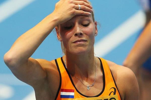 Nadine Broersen after winning pentathlon gold at the 2014 IAAF World Indoor Championships (Getty Images)