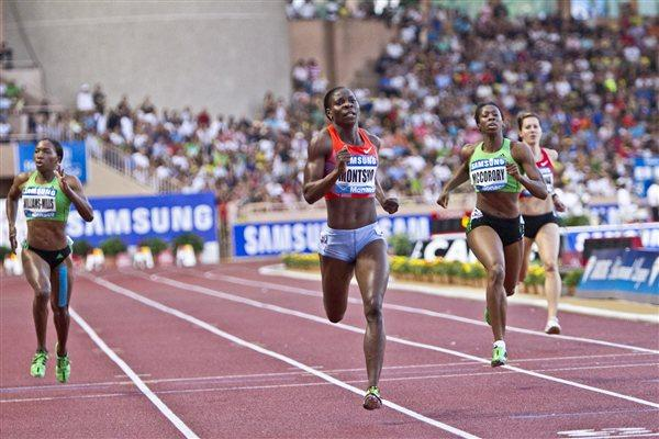 Amantle Montsho winning at the Herculis Monaco meeting - Samsung Diamond League (Philippe Fitte)
