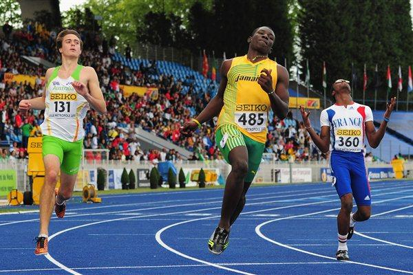 Jamaican O'Dail Todd, 2011 World youth 100m champion (Getty Images)