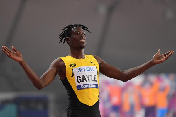 Tajay Gayle at the 2019 World Championships (AFP/Getty Images)