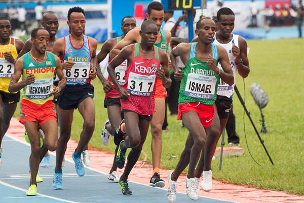 The men's 10,000m final at the 2018 African Championships in Asaba (Bob Ramsak)