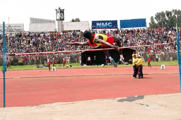 Ugula Ubang (Defense) jumps 2.05m for an Ethiopian High Jump record (Nahom Tesfaye)