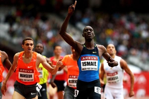 Ismail Ahmed Ismail wins the men's 800m in 1:45.85 (Getty Images)