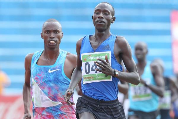 Cyrus Rutto holds off Davis Kiplangat in Nairobi (Stafford Ondego)