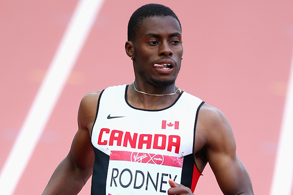 Canadian sprinter Brendon Rodney (Getty Images)