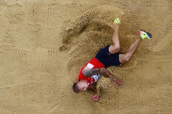 Radek Juska in the long jump at the IAAF World Championships London 2017 (Getty Images)