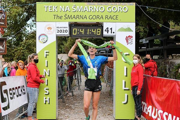 Sylvian Cachard wins the 2020 Smarna Gora Mountain Race in Ljubljana (Organisers)