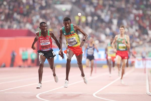 Conseslus Kipruto wins the steeplechase at the IAAF World Athletics Championships Doha 2019 (Getty Images)