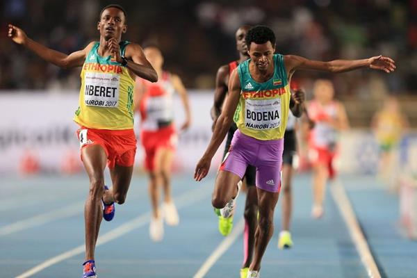 Melese Nberet wins the 800m at the IAAF World U18 Championships Nairobi 2017 (Getty Images)