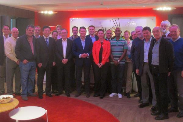 Members of the IAAF Technical Committee with Interim CEO / General Secretary Jean Gracia and IAAF President Sebastian Coe (centre) (IAAF)