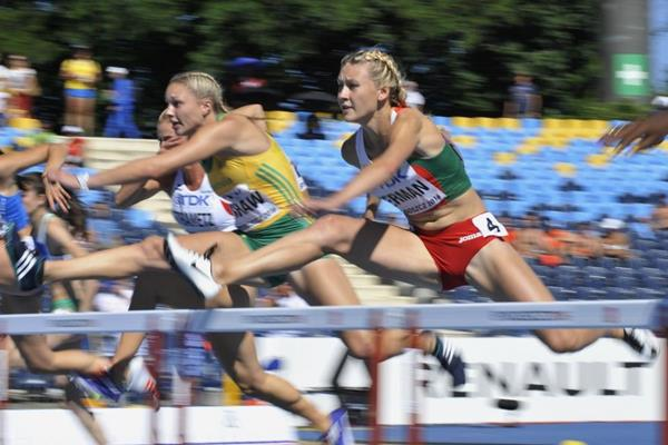 Elvira Herman in the 100m hurdles at the IAAF World U20 Championships Bydgoszcz 2016 (Getty Images)