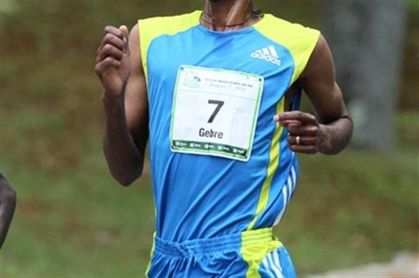 Gebre Gebremariam en route to his victory at the TD Bank Beach to Beacon 10K (Victah Sailer)