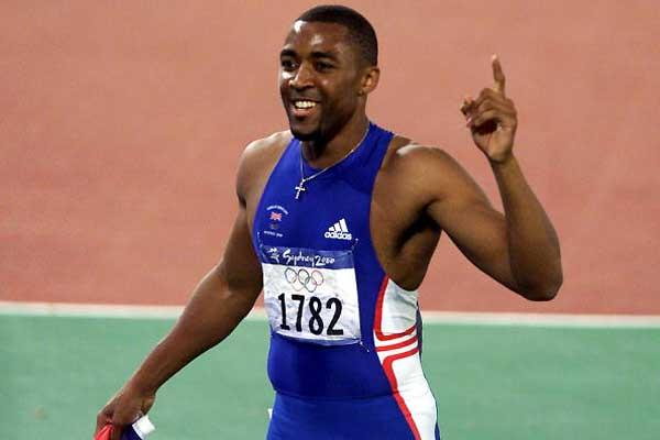Darren Campbell after winning Olympic 200m gold in Sydney (Getty Images)