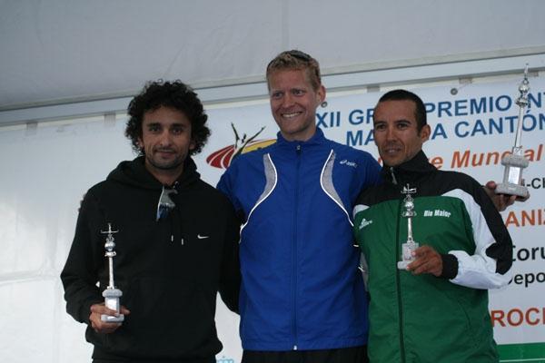 Men's La Coruna podium - Hatem Ghoula, Eric Tysse and Joao Vieira (Luis Francisco Fiaño)