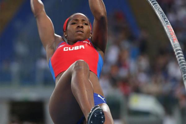 Yarisley Silva, winner of the pole vault at the IAAF Diamond League meeting in Rome (Gladys Chai von der Laage)
