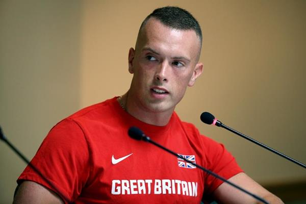 Richard Kilty at the IAAF/BTC World Relays, Bahamas 2015 press conference (Getty Images)